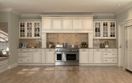 Mid continent signature series pictures atlanta kitchen - Off white cabinets with chocolate glaze ...